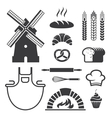 Bakery icons and symbols vector image vector image