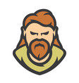 bearded man cartoon vector image