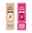 cartoon color mockup template tickets set vector image