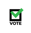 check mark icon on white background vote icon vector image