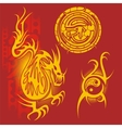 Chinese design - set vector image vector image