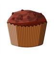 chocolate muffin dessert cupcake vector image vector image