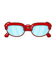 color image a vintage sunglasses on a white vector image vector image