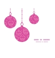 colorful cupcake party Christmas ornaments vector image vector image
