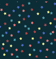 colorful modern seamless pattern with star shape vector image
