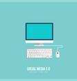 computer icon flat design vector image vector image