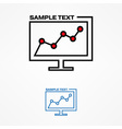 computer with graph concept vector image