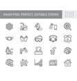 coronavirus virus prevention line icons vector image