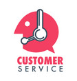 customer service online or telephone aid and help vector image