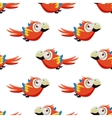 Cute Red Macaw Seamless Pattern vector image