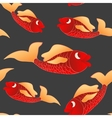 Dark seamless background red fish vector image vector image