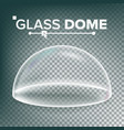 dome advertising presentation glass vector image vector image