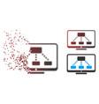 dust pixel halftone hierarchy monitor icon vector image vector image