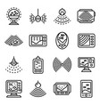 echo sounder icons set outline style vector image vector image
