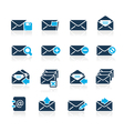 Email icons azure series vector | Price: 1 Credit (USD $1)