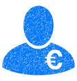 euro financier grunge icon vector image vector image