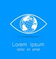 eye earth logo vector image vector image