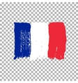 Flag of France on an empty background vector image vector image