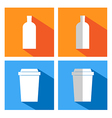 flat icons for coffee cups and bottles Coffee vend vector image