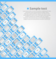 flat phone screen background vector image vector image