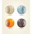 Four colored speakers with place for your own text vector image vector image
