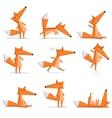 Fox poses vector image vector image