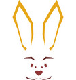 geometric linear animal rabbit isolated vector image