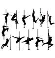 girl dancing around pole vs vector image vector image