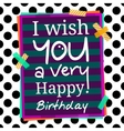 Happy Birthday greetings card on dotted background vector image vector image