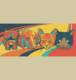 head cat and dog characters best friend forever vector image vector image