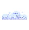 ho chi minh skyline vietnam city buildings vector image