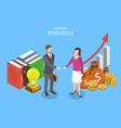 human resources isometric flat conceptual vector image