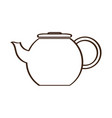 isolated coffee pot icon vector image vector image