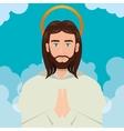 Jesus christ prayer ascension design vector image