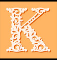 laser cut template initial monogram letters vector image