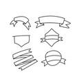line banner ribbons set drawn hands vector image vector image