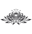 lotus flower design element vector image vector image