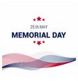 memorial day design card vector image