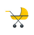 modern baby carriage icon flat style vector image vector image