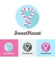 modern flat candy shop or cafe logo vector image