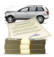 Money for the broken car vector image vector image