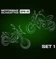 Motorbike Silhouettes Set 1 vector image vector image
