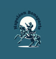 napoleon on horseback vector image
