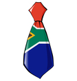 necktie in national colours of South Africa vector image vector image