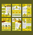 olive oil organic farm product poster template set vector image vector image