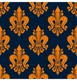 Orange french fleur-de-lis seamless pattern vector image vector image