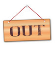 out sign vector image vector image
