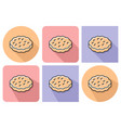 outlined icon cookie with parallel and not vector image vector image