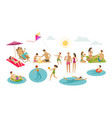 people rest on beach vacation summer concept vector image vector image