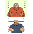 Police mug shots of thief and bandit vector image vector image